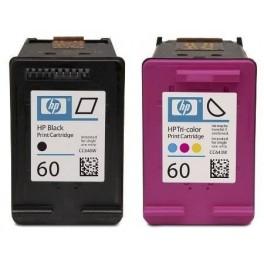 Cartridge HP 60 Black and Color komplit Dus